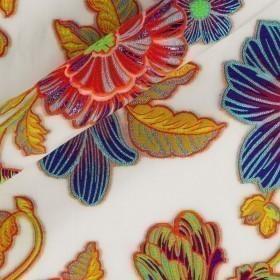 Floral printed organza