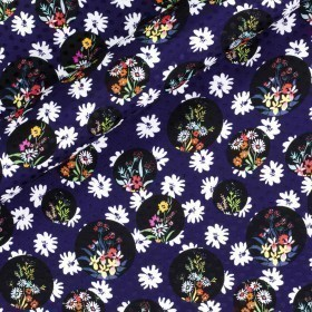Floral printed fabric