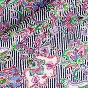 Paisley printed fabric