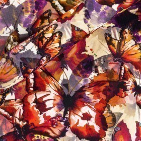 Camouflage butterflies print