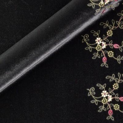 Embroidery on velvet