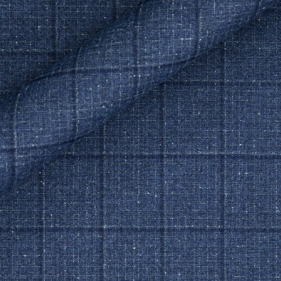Check in pure virgin wool 130'S