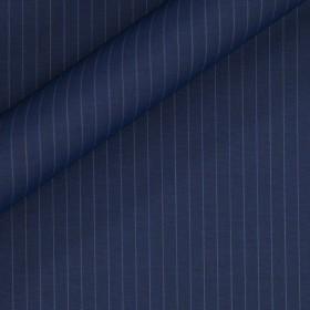 Pinstripe fabric in pure virgin wool 130'S