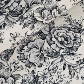 Jacquard with floral pattern