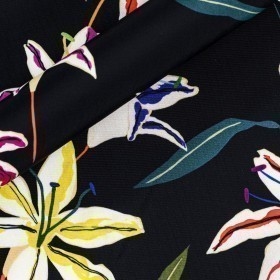 Floral print on jersey