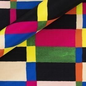 Geometric pattern print on silk