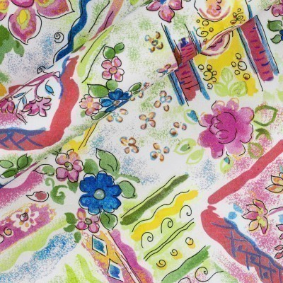 Floral print on cotton