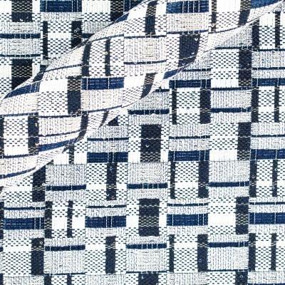 Stretch jacquard with geometric pattern