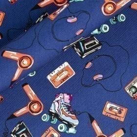 Stampa con disegno fantasia su cotone stretch