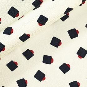 Stampa geometrica su seta