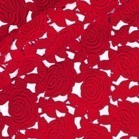 Macramè floreale in cotone