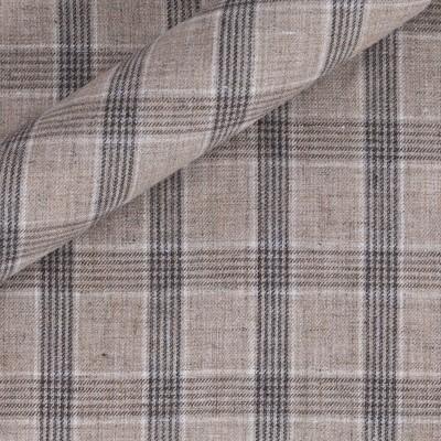 Check in pure linen
