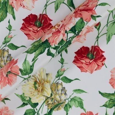 Floral print crepe satin