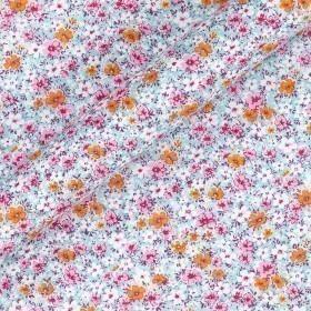 Floral print cotton popeline