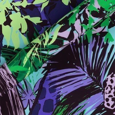 Stampa jungle su crepe satin