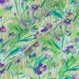 Floral print crepe de chine
