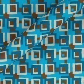 Geometric print stretch cotton