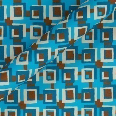 Stampa geometrica su cotone stretch