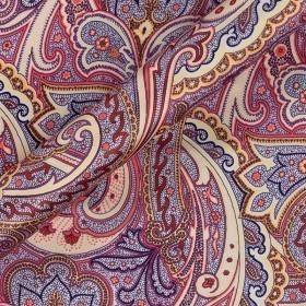 Paisley print crepe satin
